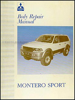 1997-2003 Mitsubishi Montero Sport Body Manual Original