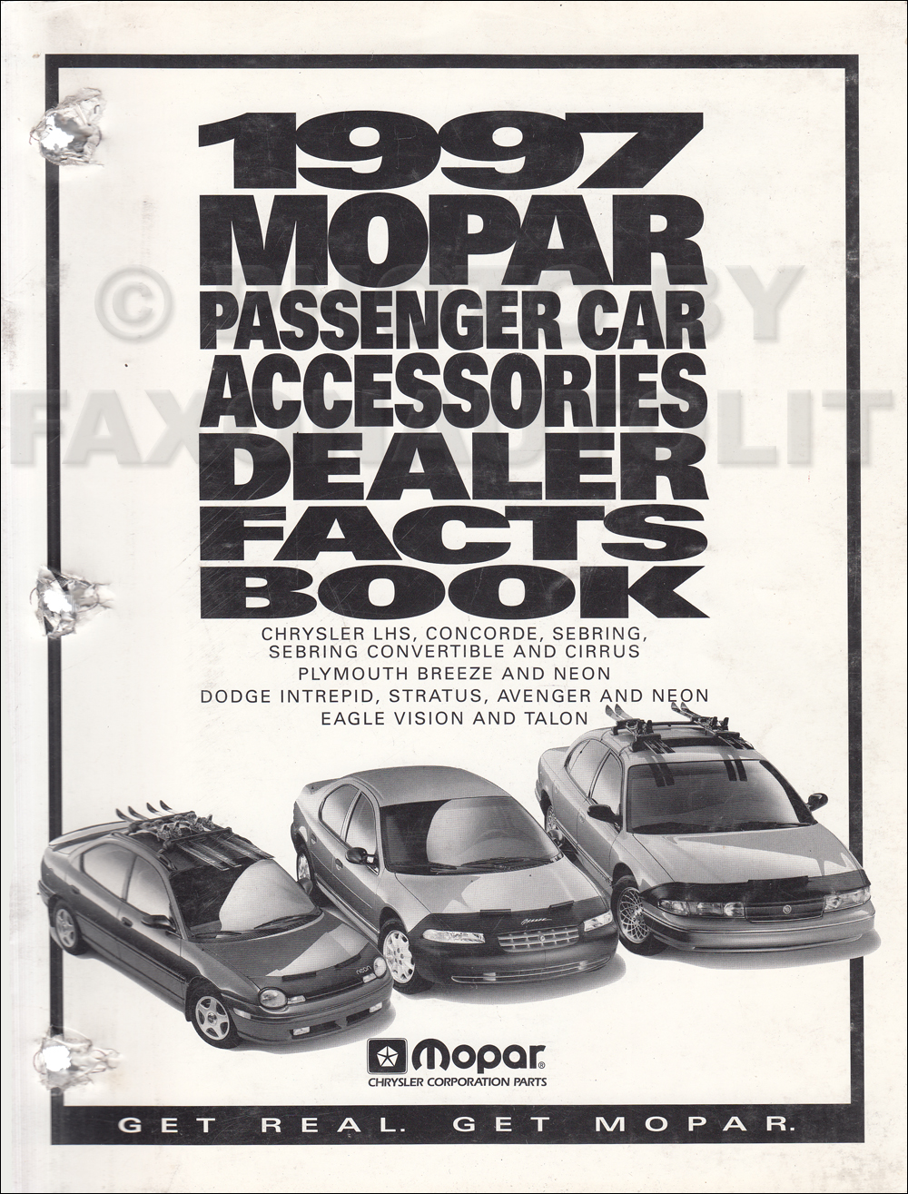 1997 Mopar Car Accessories Facts Book Original