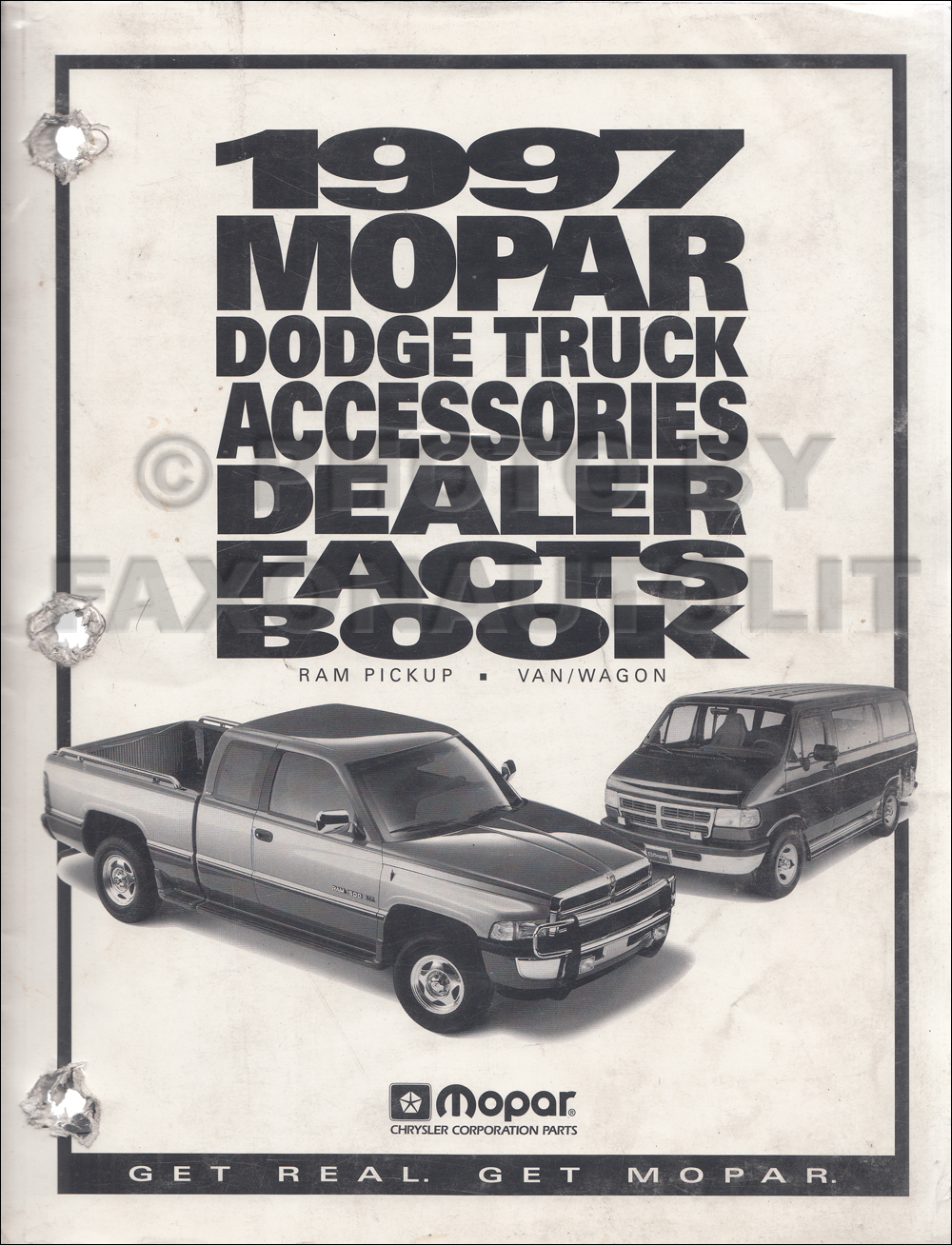 1997 Dodge Truck Accessories Dealer Facts Book Original