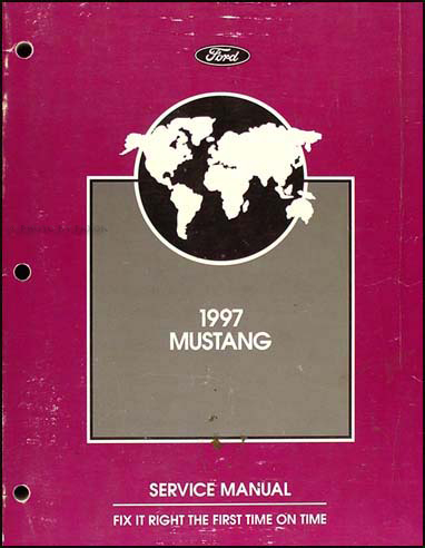 1997 Ford Mustang Shop Manual Original