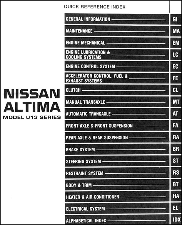 1997 nissan altima fuse box diagram daily update wiring diagram 2001 Nissan Altima Fuse Box Diagram