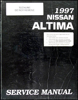 1997 Nissan Altima Repair Manual Original