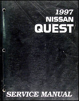 1997 Nissan Quest Van Repair Manual Original