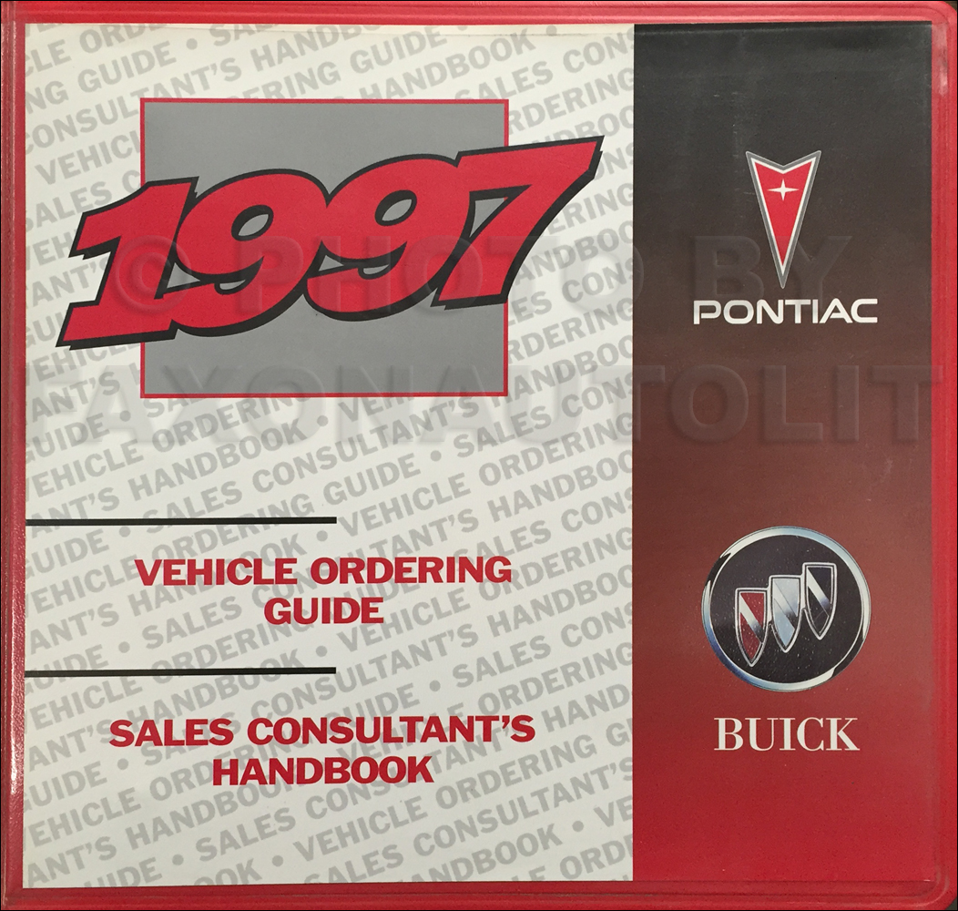 1997 Pontiac Buick Ordering and Sales Consutant's Guide Original Dealer Album Canadian