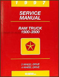 1997 Dodge Ram Truck Shop Manual Original 1500-2500-3500