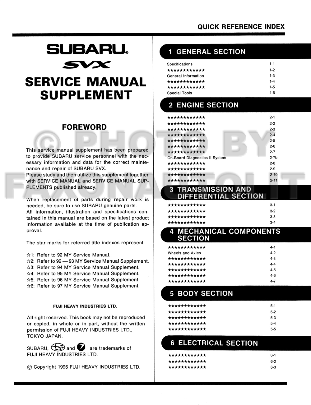 1997 Subaru Svx Repair Shop Manual Supplement Original Obd Ii 1992 Wiring Diagram Click On Thumbnail To Zoom