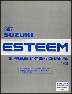 1997 Suzuki Esteem Repair Manual Supplement Original