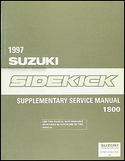 1997 Suzuki Sidekick Sport 1800 Repair Manual Supplement Original