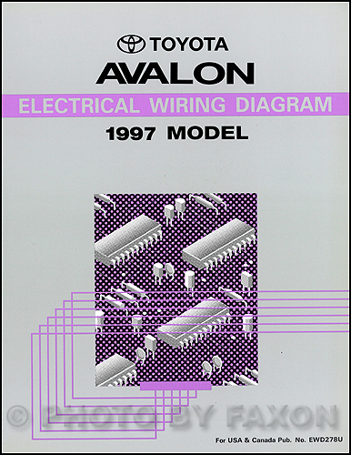 1997 Toyota Avalon Wiring Diagram Manual Original
