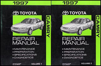 1997 Toyota Camry Repair Manual 2 Volume Set Original