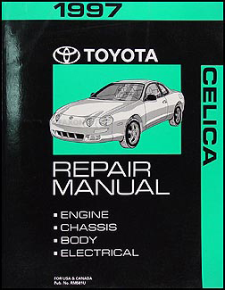 1997 Toyota Celica Repair Manual Original