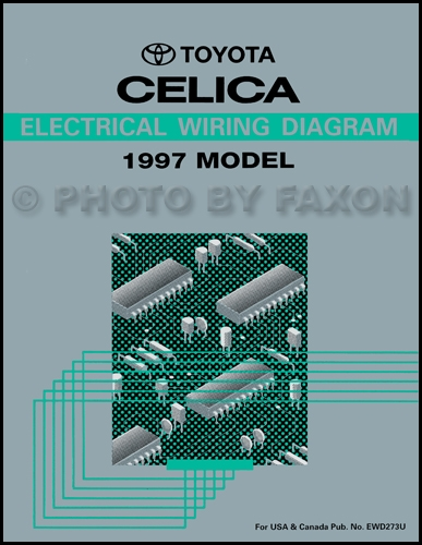 1997 Toyota Celica Wiring Diagram Manual Original | 1997 Toyota Celica Wiring Diagram |  | Faxon Auto Literature