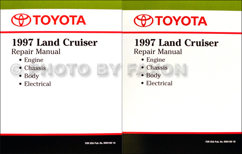 1997 Toyota Land Cruiser Repair Shop Manual Original