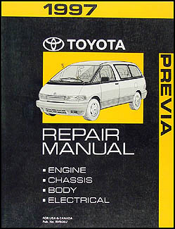 1997 Toyota Previa Van Repair Manual Original