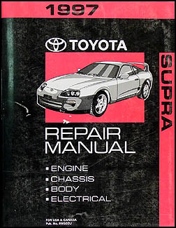 1997 Toyota Supra Repair Manual Original