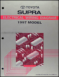 1997 Toyota Supra Wiring Diagram Manual Original
