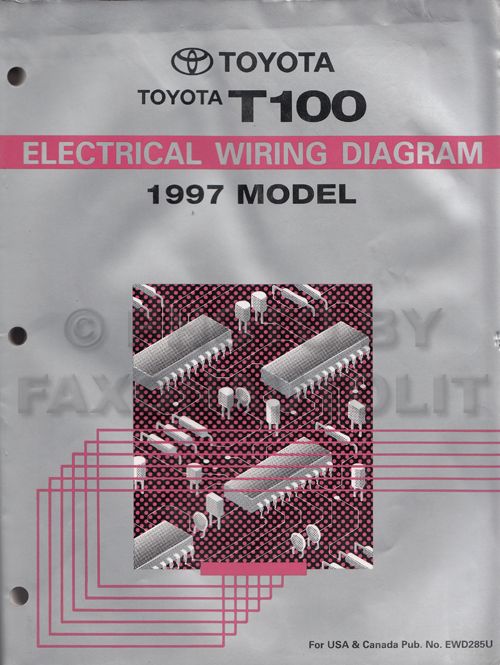 1997 Toyota T100 Truck Wiring Diagram Manual Originalrhfaxonautoliterature: T100 Wiring Diagram At Gmaili.net