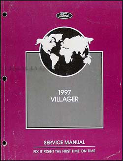 1997 Mercury Villager Repair Manual Original