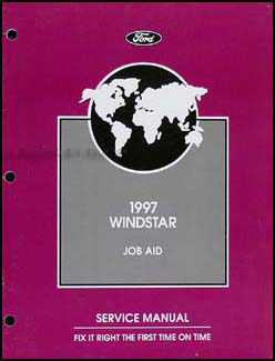"1997 Ford Windstar Repair Manual Supplement Original ""Job Aid"""