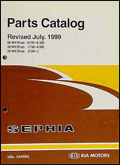 1998-2000 Kia Sephia Parts Book Original