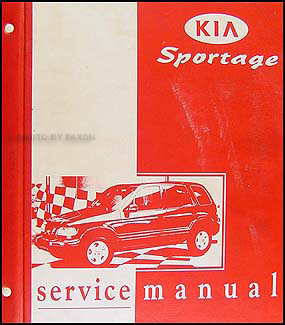 1998-2000 Kia Sportage Repair Manual Original