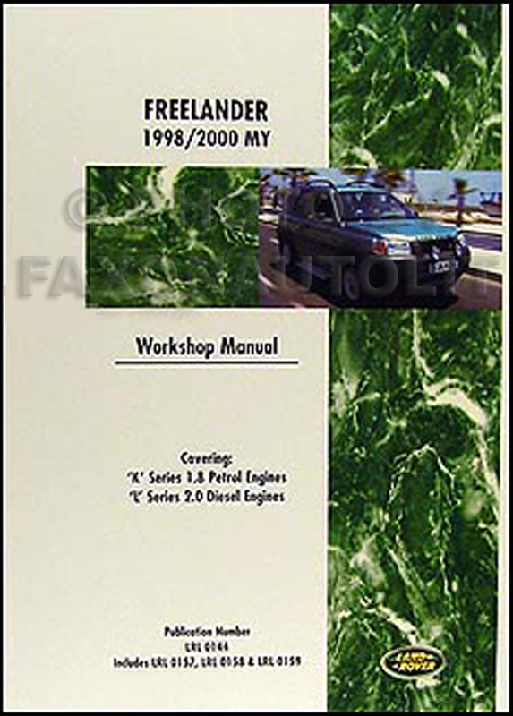 1998-2000 Land Rover Freelander Repair Manual Reprint