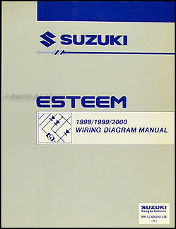 1998-2001 Suzuki Esteem Wiring Diagram Manual Original