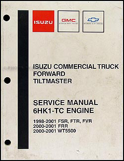 1998-2004 Isuzu 6HK1-TC Diesel Engine Repair Shop Manual FSR FTR FVR FRR WT5500