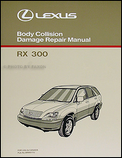 1998-2002 Lexus RX 300 Body Collision Repair Manual Original