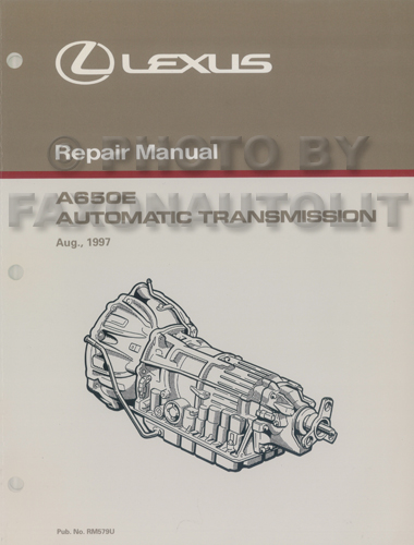 1998-2005 Lexus GS, GS300, SC400, LS  Automatic Transmission Repair Manual Original