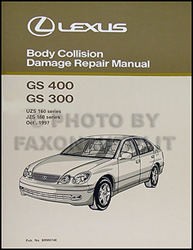 1998-2005 Lexus GS 400/430 and 300 Body Collision Repair Shop Manual Orig.