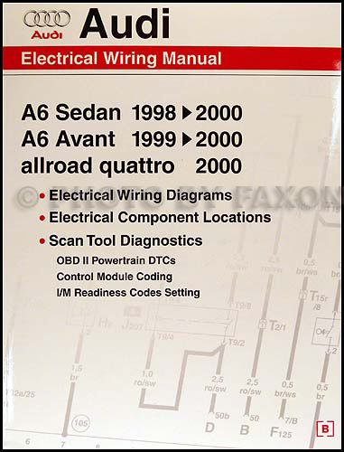 1998-2000 Audi A6 Wiring Diagram Manual