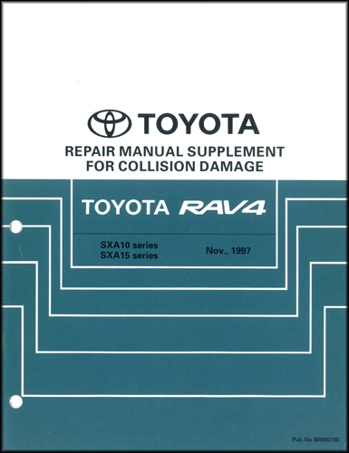 1999 Toyota Rav4 Repair Shop Manual Set Original
