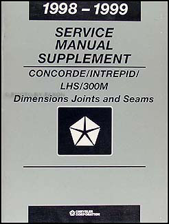 1998-1999 Concorde Intrepid LHS 300M Body Collision Manual Original