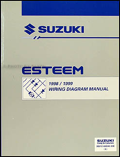 1998-1999 Suzuki Esteem Wiring Diagram Manual Original