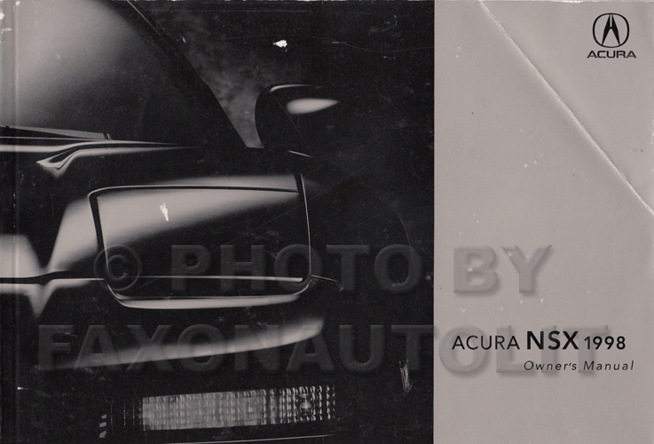 1998 Acura NSX Owners Manual Original