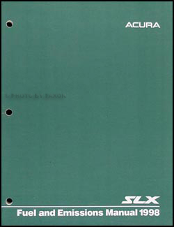 1998 Acura SLX Fuel and Emissions Manual Original