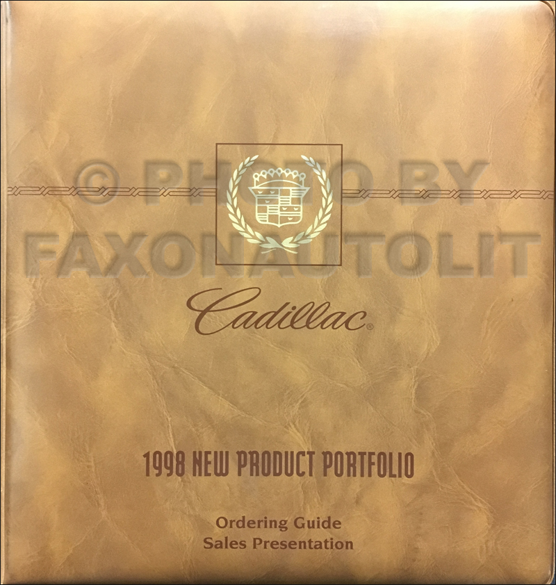 1998 Cadillac Product Portfolio - Data Book and Color & Upholstery Album