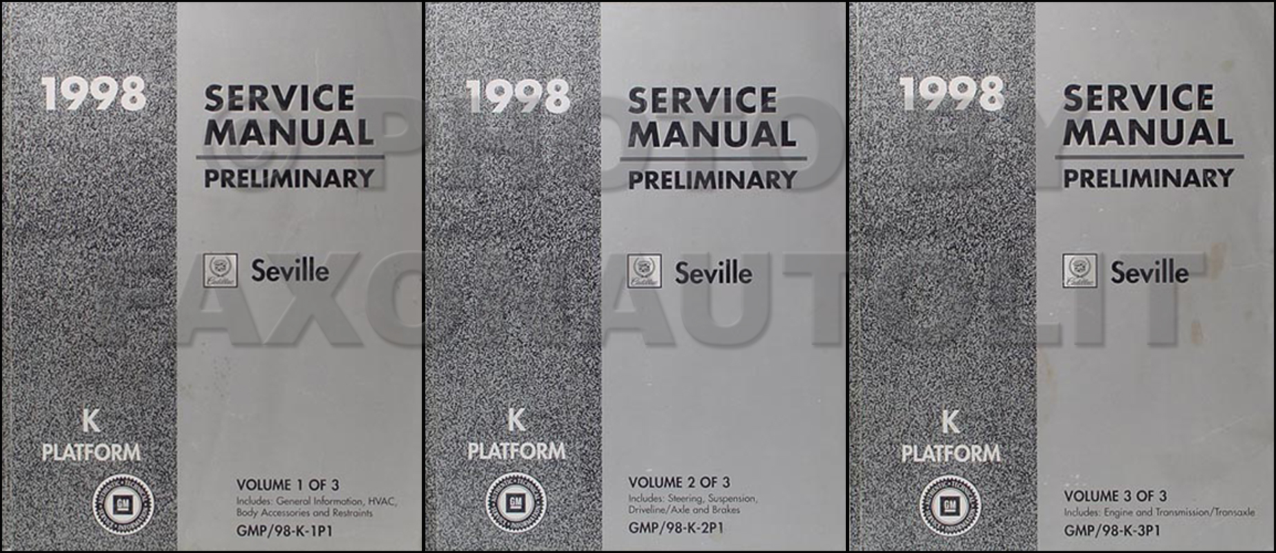 Preliminary 1998 Cadillac Seville Repair Shop Manual Original 3 Volume Set