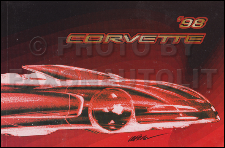 1998 Chevy Corvette Owner's Manual Original