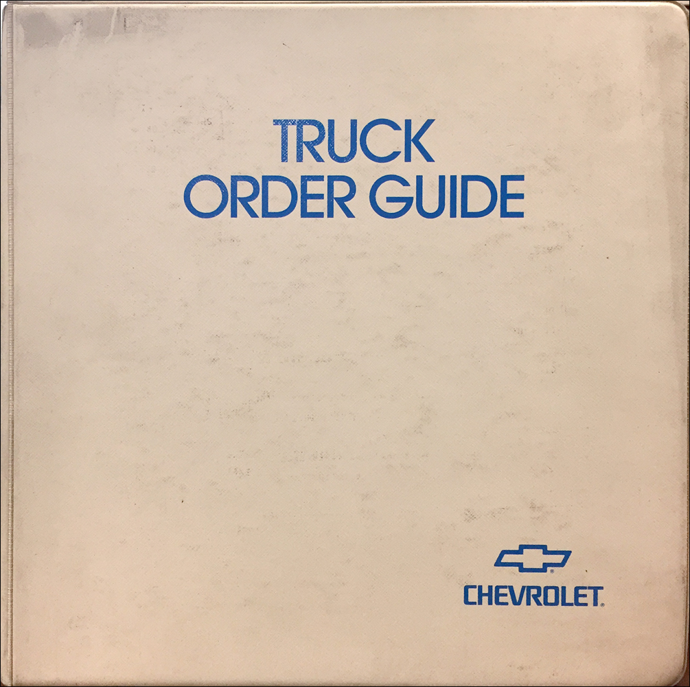 1998 Chevrolet Truck Order Guide Dealer Album Original