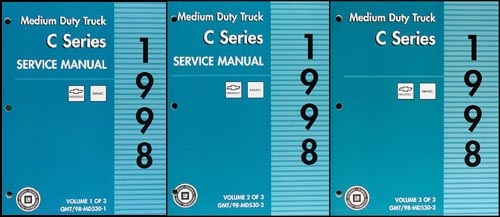 1998 GMC/Chevy C-6000/7000 Medium Truck Shop Manual Original Set