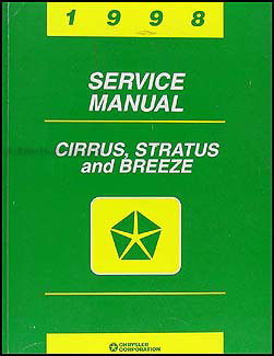 1998 Cirrus, Stratus, & Breeze Shop Manual Original