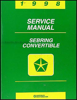 1998 Sebring Convertible Shop Manual Original