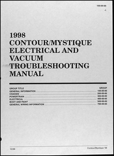 1998 ford contour mercury mystique electrical troubleshooting manual 1998 pontiac grand prix wiring-diagram 1998 ford contour wiring diagram #6