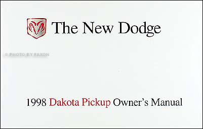 1998 Dodge Dakota Pickup Truck Original Owner's Manual 98
