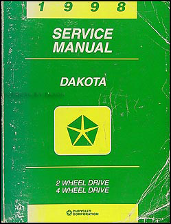 1998 Dodge Dakota Repair Manual Original