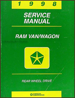1998 Dodge Ram Van & Wagon Shop Manual Original B1500-B3500