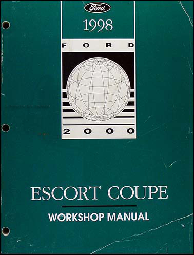 1998 Ford Escort ZX-2 Coupe Repair Manual Original