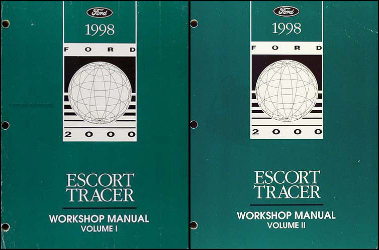 1998 Ford Escort Sedan/Wagon & Mercury Tracer Repair Shop Manual Set Original